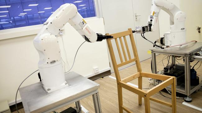 "<p>A team of researchers from Singapore's Nanyang Technological University (<span class=""caps"">NUT</span>) have developed a pair of robotic arms capable of tackling one of the hardest tasks known to man. Assembling Ikea furniture.</p><p>This video shows the two robotic arms get to grips with an Ikea Stefan chair as part of a study published on April 18 in the journal <a href=""http://robotics.sciencemag.org/content/3/17/eaat6385"" target=""_blank"">Science Robotics</a>. The robots were able to autonomously construct the chair in 20 minutes using the pressure sensors, 3D cameras and the industrial gripper arms.</p><p>""Dexterous manipulation is…[a] marker of human intelligence. Yet, demonstrations<br />of autonomous manipulation have been so far restricted to elementary tasks,"" said the research team led by professor Quang-Cuong Pham in a statement released by <span class=""caps"">NUT</span>.  ""A main reason is that complex manipulation tasks in human environments require mastering multiple skills—from visual and tactile localization to motion planning, force control, and bimanual coordination—and managing their complex interactions.""</p><p>The research team said the study opened the possibility for robots to work autonomously in new fields in manufacturing or logistics where traditional robotic assembly lines are not viable. Credit: Nanyang Technological University Singapore via Storyful</p>"