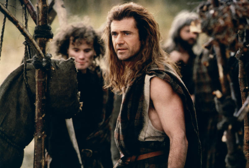 Australian-American actor, director and producer Mel Gibson on the set of his movie Braveheart. (Photo by Sunset Boulevard/Corbis via Getty Images)