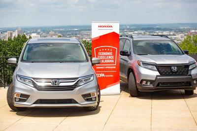 Honda Manufacturing of Alabama has an economic impact in Alabama of more than $12 billion annually, and together with its suppliers is responsible for more than 45,000 jobs in the state. HMA builds the Odyssey minivan (left) and the all-new Honda Passport SUV (right), as well as the Pilot sport utility vehicle and the Honda Ridgeline pickup truck at its facilities in Lincoln, AL.