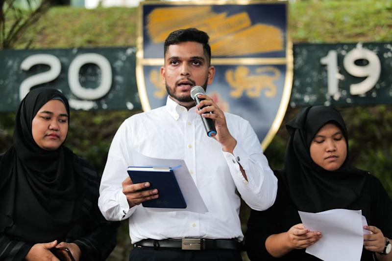 Coalition for Academic Freedom's Asheeq Ali Sethi Alivi (pic) said those who label the forum as biased should urge the four academics who had advised Malay rulers on the International Criminal Court statute to attend the forum. — Picture by Ahmad Zamzahuri