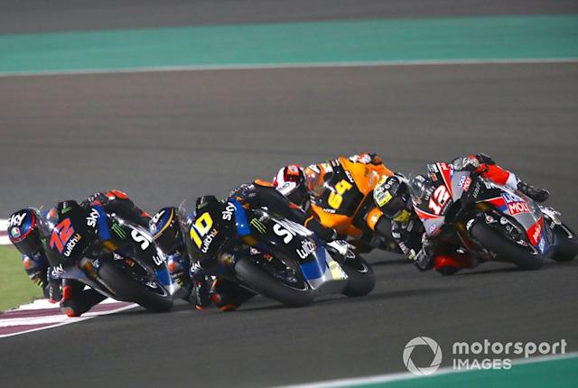 """Marco Bezzecchi, Sky Racing Team VR46, Luca Marini, Sky Racing Team VR46 <span class=""""copyright"""">Gold and Goose / Motorsport Images</span>"""