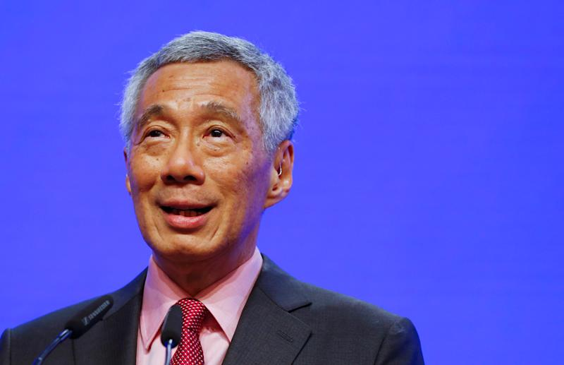 Singapore's Prime Minister Lee Hsien Loong delivers a keynote address at the IISS Shangri-la Dialogue in Singapore, May 31, 2019. REUTERS/Feline Lim