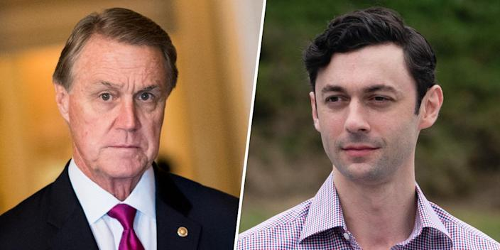 Image: David Perdue and Jon Ossoff (CQ Roll Call; Bloomberg / via Getty Images)