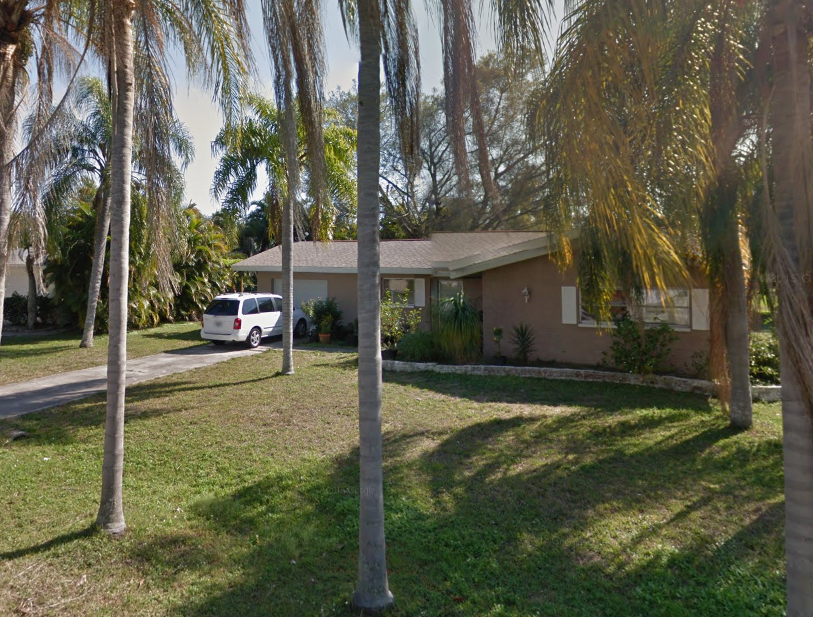 The couple lived in this house with their children in Florida. Source: Google