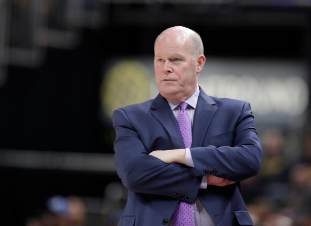 "<a class=""link rapid-noclick-resp"" href=""/nba/teams/cha"" data-ylk=""slk:Charlotte Hornets"">Charlotte Hornets</a> head coach Steve Clifford has been relieved of his duties after five seasons. (AP)"