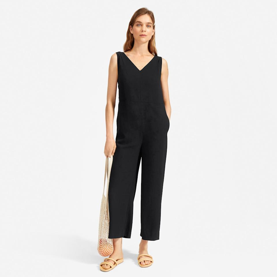 Save 30% on The Japanese GoWeave Essential Jumpsuit. Image via Everlane.