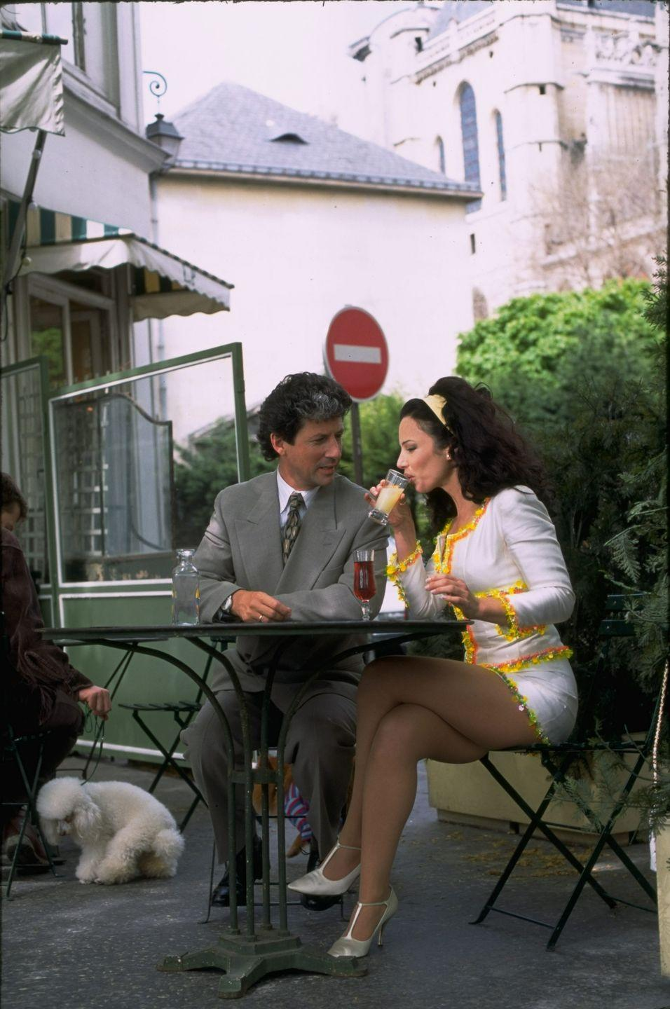 <p>Fran Drescher's character in the television sitcom <em>The Nanny </em>is known best for her flamboyant yet iconic wardrobe (and her expansive collection of skirt suits). To re-create the look, splurge on a vintage set that you can wear well after your office's Halloween get-together is over.<br></p>