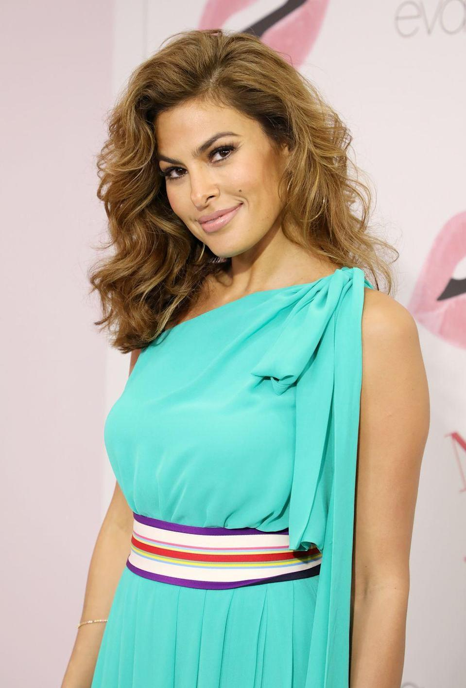 """<p>When she's off-season, Mendes <a href=""""https://www.shape.com/celebrities/videos/eva-mendes-shares-fitness-and-beauty-tips-keep-her-looking-so-damn-glowy"""" rel=""""nofollow noopener"""" target=""""_blank"""" data-ylk=""""slk:takes it a little easier"""" class=""""link rapid-noclick-resp"""">takes it a little easier</a> and works out about three days a week. But in the summer or when she's preparing for a movie or event, that number goes up to five!</p>"""
