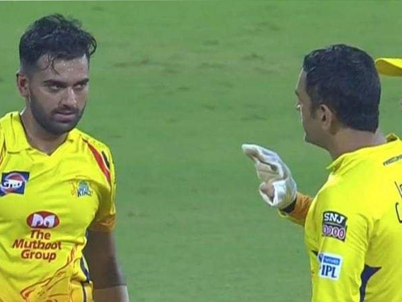 Chahar drew the displeasure of his CSK captain MS Dhoni after consecutive no-balls