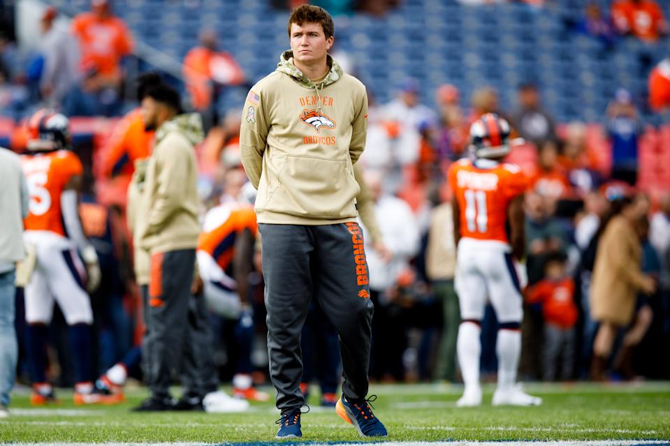 Drew Lock has had to be patient, but the Denver Broncos need to find out what their second-round pick can do this season. (Photo by Justin Edmonds/Getty Images)