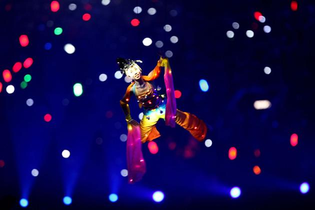 BEIJING - AUGUST 08: An artist performs during the Opening Ceremony for the 2008 Beijing Summer Olympics at the National Stadium on August 8, 2008 in Beijing, China.  (Photo by Streeter Lecka/Getty Images)