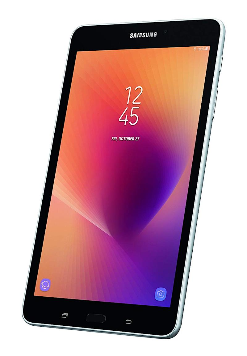 The Samsung Galaxy Tab A 8's on-board storage is expandable up to 256GB with a MicroSD card. (Photo: Amazon)