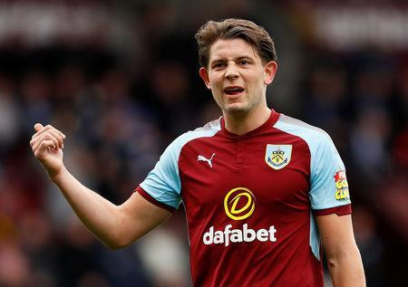 Soccer Football - Premier League - Burnley v Brighton & Hove Albion - Turf Moor, Burnley, Britain - April 28, 2018 Burnley's James Tarkowski Action Images via Reuters/Jason Cairnduff