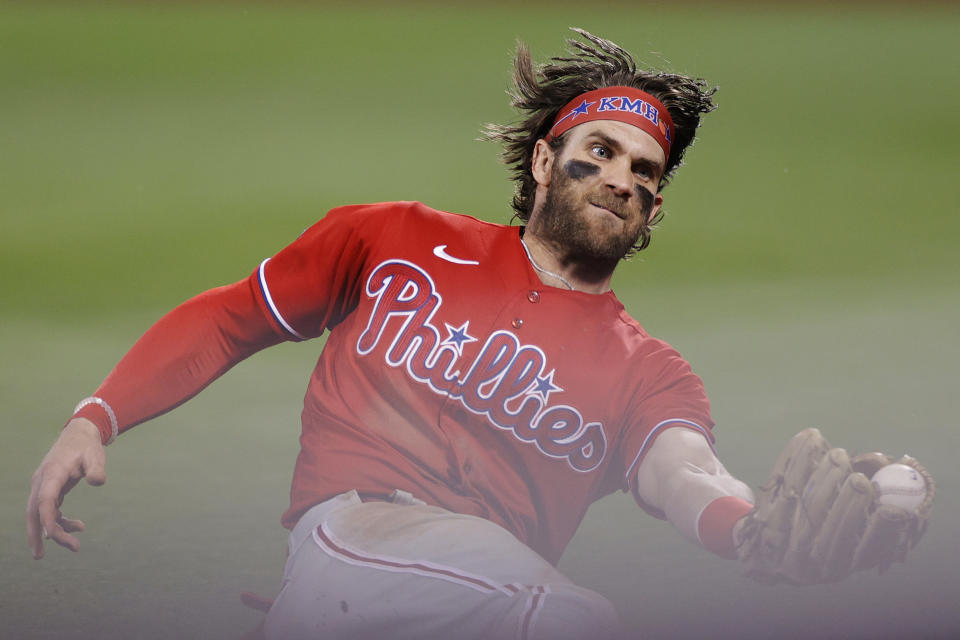 Bryce Harper has taken over as the NL MVP favorite. (Photo by Sarah Stier/Getty Images)
