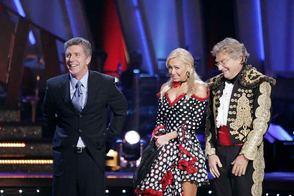 <p>In season 3, Jerry and Kym Johnson's pasodoble ended up being one of the most cringe-worthy dances ever on the show. First, Jerry tried to break a guitar during the routine—but couldn't. Then, while talking to the judges, the talk show host took a tumble on the ground and needed help from Kym to get up.</p>
