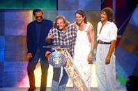 <p>The reunion between Van Halen and off-on original frontman David Lee Roth on the VMAs stage — their first appearance together in 10 years — was so exciting. For about 47 seconds. Because that's about how long this particular VH reunion lasted. Eddie Van Halen's icy body language at the VMAs made it clear that he still loathed Diamond Dave; at times he was standing so far away from Roth, he may as well have been on a different show on another network. And Dave's constant goofy quips about Eddie's hip surgery didn't help matters. Rumor has it they nearly got in a fistfight backstage. (Source: Yahoo Music) </p>