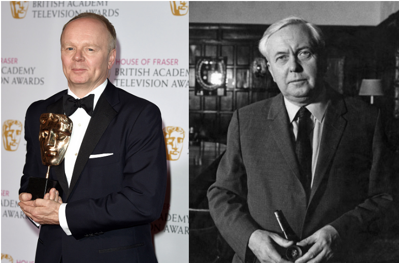 <p>British actor Jason Watkins played Prime Minister Harold Wilson. IRL, under the Elizabeth II monarchy, Wilson rose quickly through the ranks and served as prime minister from 1964 to 1970 and again from 1974 to 1976.</p>