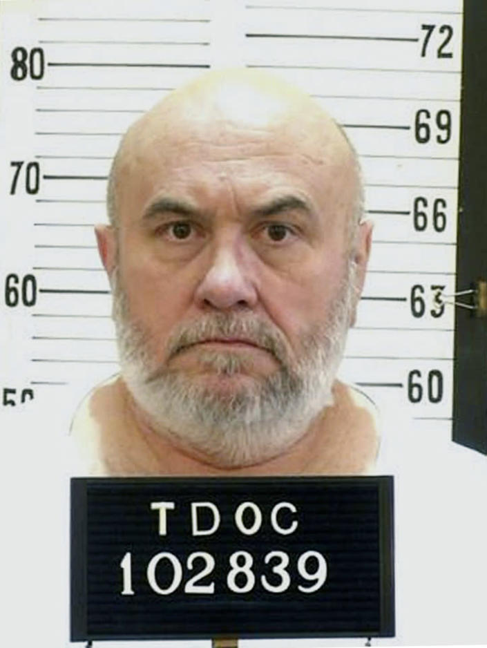 FILE - This undated file photo released by the Tennessee Department of Corrections shows death row inmate Edmund Zagorski in Tennessee. Zagorski had asked the state of Tennessee that he'd rather die in the electric chair than receive the lethal injection. The state granted his request, and on Nov. 1, 2018, he was electrocuted for the 1983 murder of two men. (Tennessee Department of Corrections via AP, File)