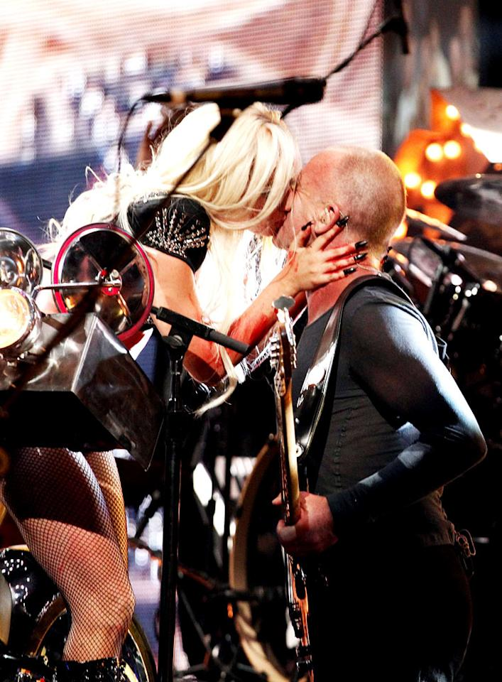 "The two-day concert -- which took place at the MGM Grand Garden Arena -- featured a ton of talent, including Lady Gaga, who planted a smooch on Sting during their crowd-pleasing performance. Christopher Polk/<a href=""http://www.gettyimages.com/"" target=""new"">GettyImages.com</a> - September 24, 2011"