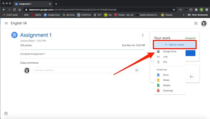 How to submit an assignment in Google Classroom   5