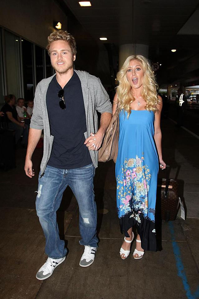 "Spencer Pratt dismissed allegations by Heidi Montag's mom that he drugged her daughter into eloping with him in Mexico. The newlyweds returned to Los Angeles after honeymooning in Cabo San Lucas. Matt Symons/<a href=""http://www. PacificCoastNews.com"" target=""new"">PacificCoastNews.com</a> - December 1, 2008"