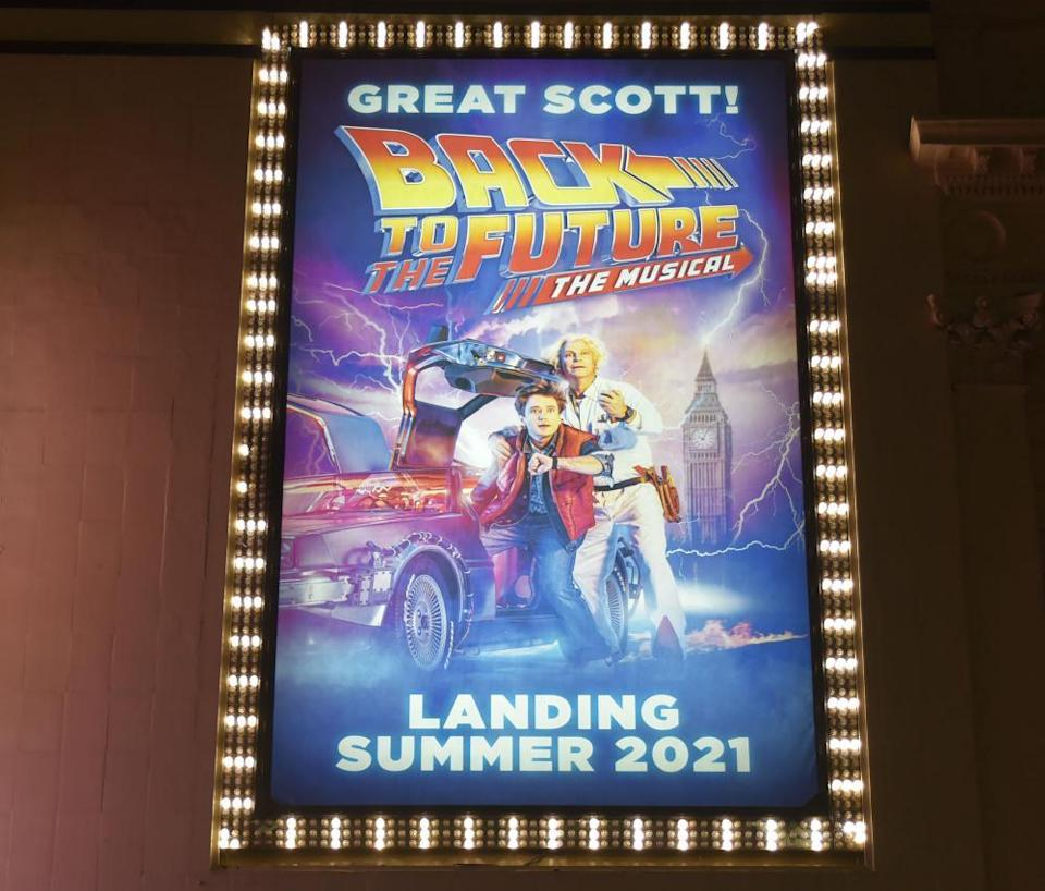 An notice about Back to the Future: The Musical