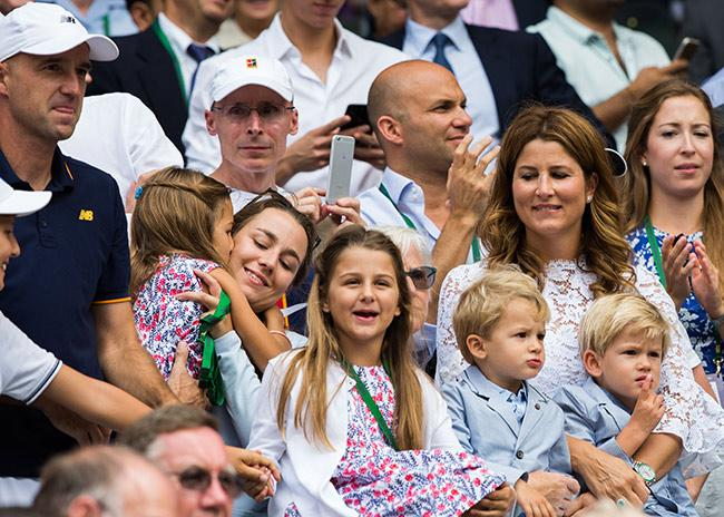 Federer family sitting in Kensington