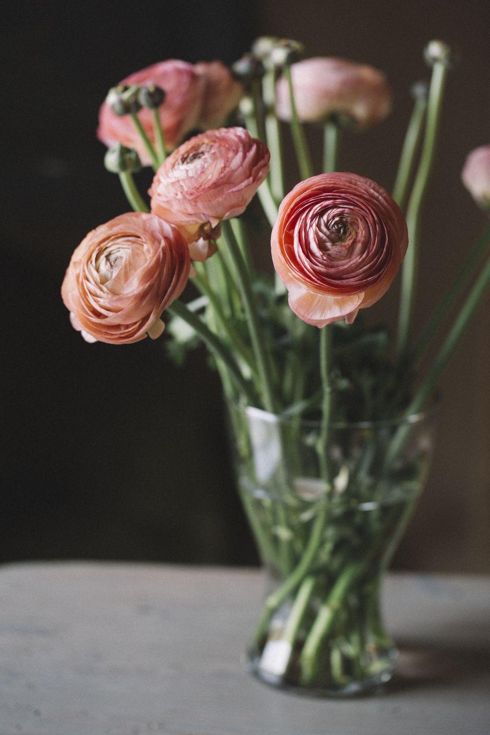 """<p>Appearing in warm, happy colors of orange, yellow, pink, red, and white, ranunculus flowers are comprised of tight circles of petals.</p><p><strong>Bloom season</strong>: Summer</p><p><a class=""""link rapid-noclick-resp"""" href=""""https://go.redirectingat.com?id=74968X1596630&url=https%3A%2F%2Fwww.homedepot.com%2Fp%2FVan-Zyverden-Butter-Cups-Ranunculus-Double-Pink-Bulbs-Set-of-25-833221%2F301135441&sref=https%3A%2F%2Fwww.redbookmag.com%2Fhome%2Fg35661704%2Fbeautiful-flower-images%2F"""" rel=""""nofollow noopener"""" target=""""_blank"""" data-ylk=""""slk:SHOP RANUNCULUS"""">SHOP RANUNCULUS</a></p>"""