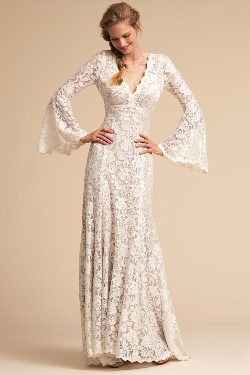 BHLDN\'s latest wedding dress collection is an ode to spring brides