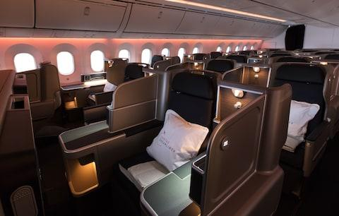 This is what business class looks like - Credit: Qantas Airways Limited/Brent Winstone