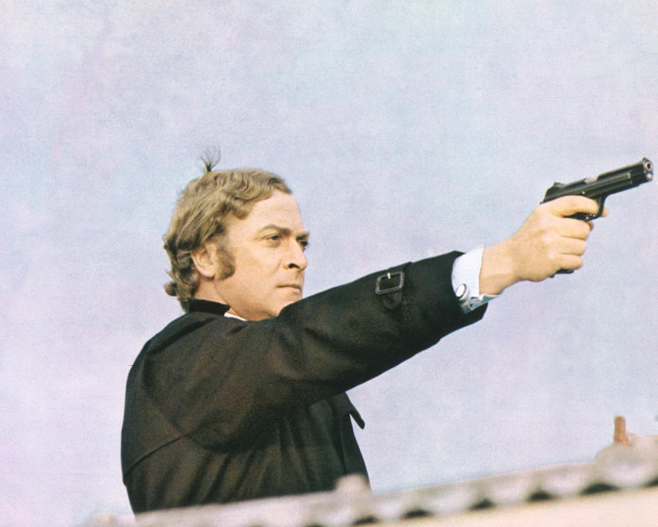 English actor Michael Caine as Jack Carter in the film 'Get Carter', 1971.  (Photo by Silver Screen Collection/Getty Images)
