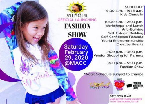 Solely Soleil Resort Wear Announces Official Launching Fashion Show In Miami Fl