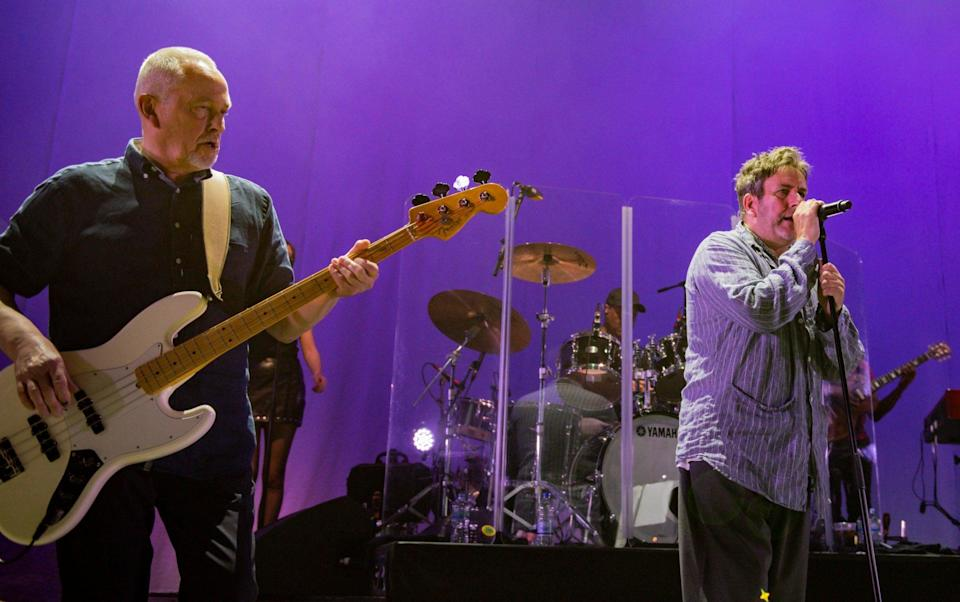 Horace Panter and Terry Hall of The Specials perform at The Roundhouse in London on the penultimate night of their 2021 UK tour - Redferns