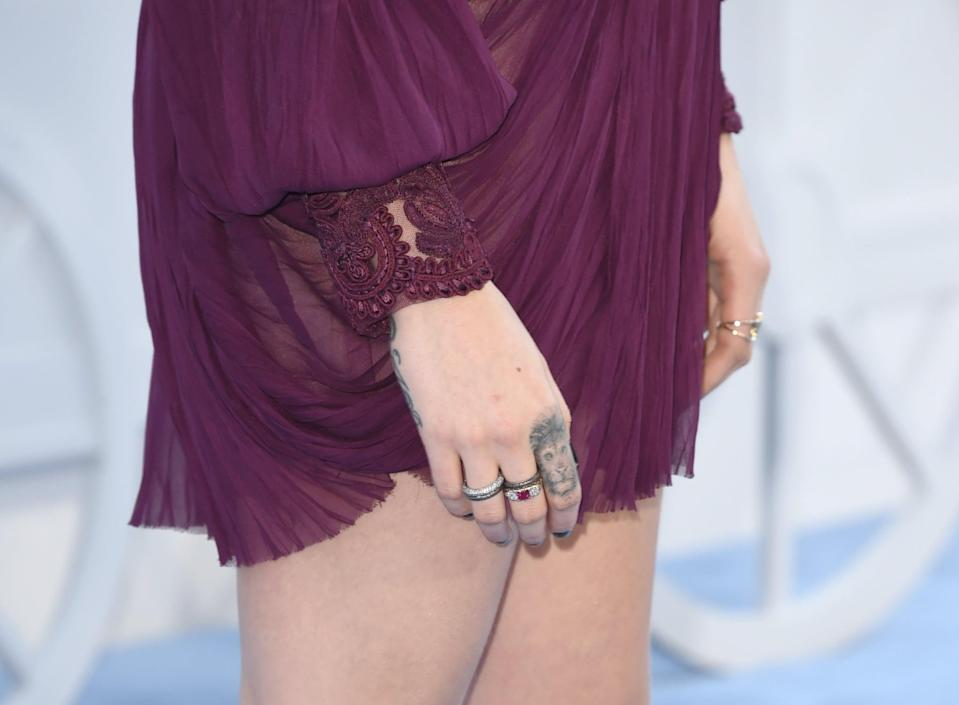 <p>One of her more notable tattoos is the lion that she has on her right pointer finger. Lions typically symbolize courage and fearlessness, which could play a role in her reasoning for getting the tattoo.</p>