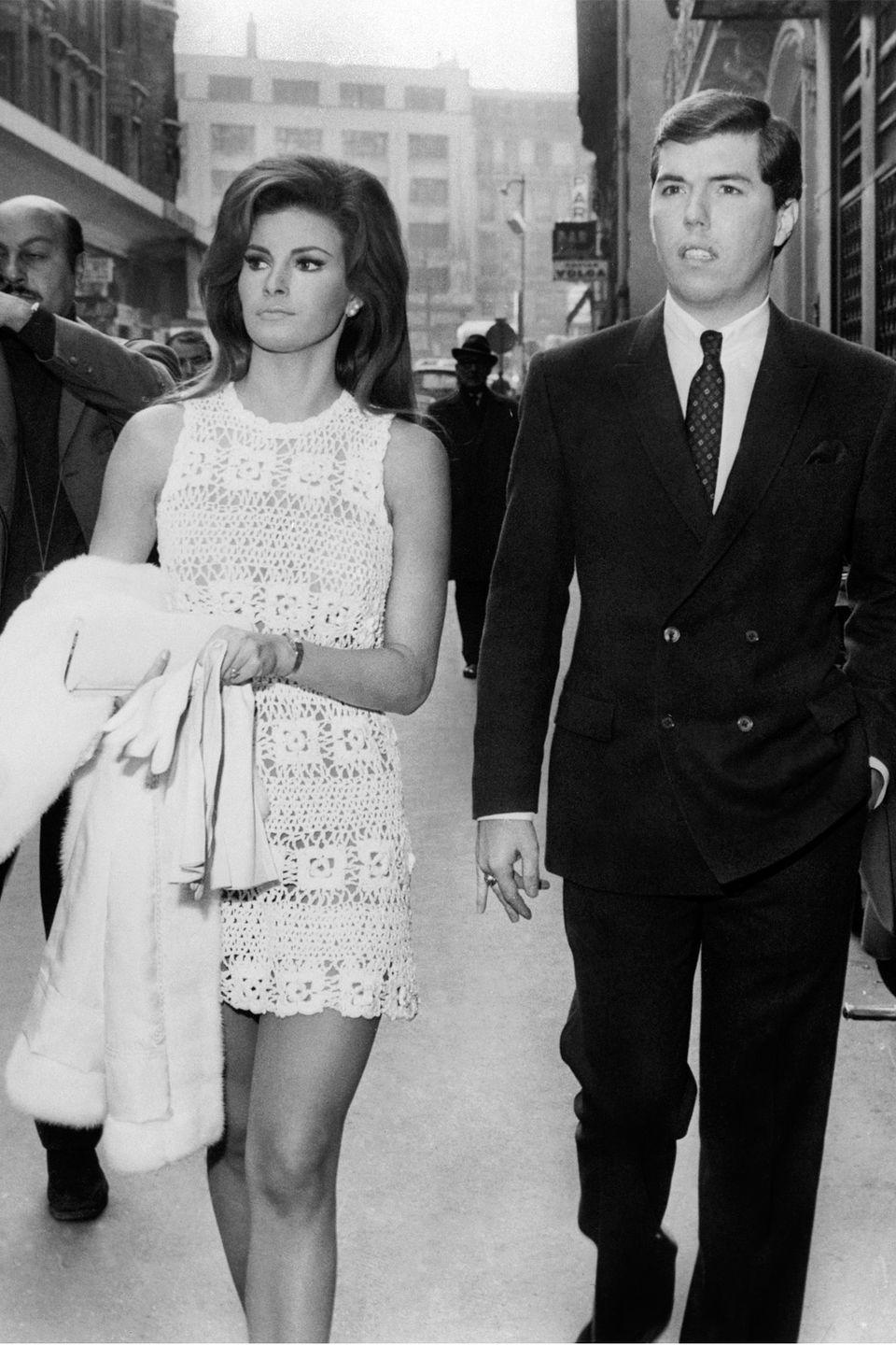 <p>The famous actress' crotchet outfit she wore to wed producer Patrick Curtis at the City Hall of Paris on Valentine's Day back in 1967 was so casual, it looked like she could have just walked off of the beach in St. Tropez — despite the winter season.</p>