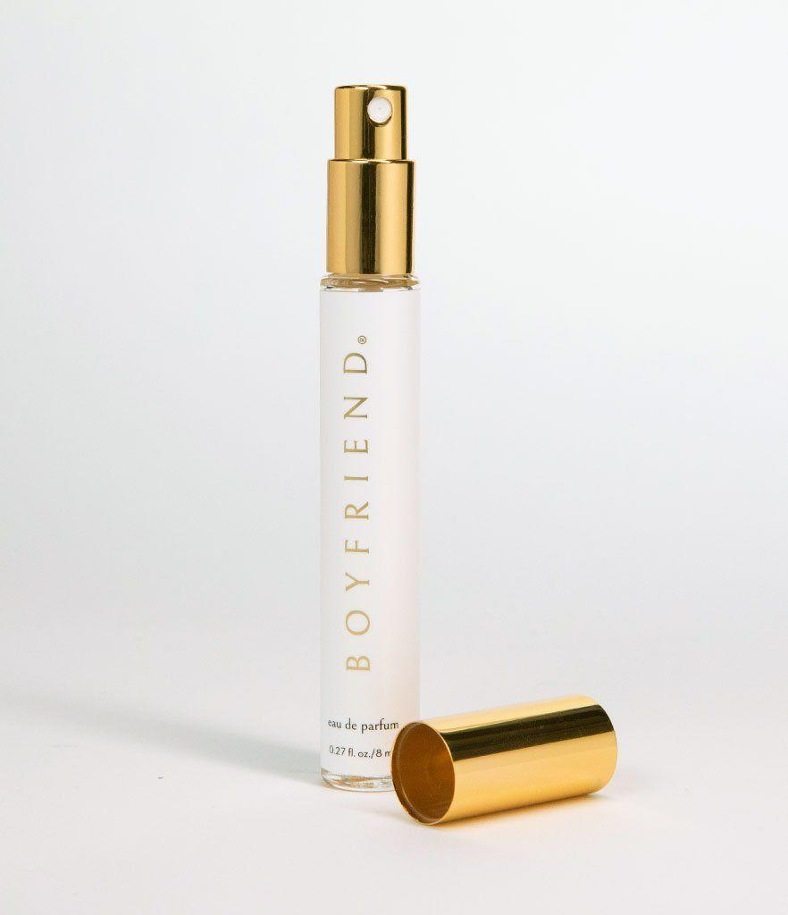 """<p><strong>boyfriend</strong></p><p>boyfriendperfume.com</p><p><strong>$24.00</strong></p><p><a href=""""https://boyfriendperfume.com/products/boyfriend-eau-de-parfum-spray?variant=28078527053910"""" rel=""""nofollow noopener"""" target=""""_blank"""" data-ylk=""""slk:Shop Now"""" class=""""link rapid-noclick-resp"""">Shop Now</a></p><p>If you're <strong>the type of gal that just loves the smell of bae</strong> so much that you sometimes sneak his cologne, then is the scent for you. It's not exactly your boyfriend's fragrance, but its a nod with a splash of femininity. The brand was <a href=""""https://www.cosmopolitan.com/entertainment/tv/a29652062/kate-walsh-addison-montgomery-greys-anatomy-theory/"""" rel=""""nofollow noopener"""" target=""""_blank"""" data-ylk=""""slk:founded by actress Kate Walsh"""" class=""""link rapid-noclick-resp"""">founded by actress Kate Walsh</a> who says she created it """"so that women everywhere could enjoy the cozy, delicious feeling of love... whether they are in a relationship or not.""""</p>"""