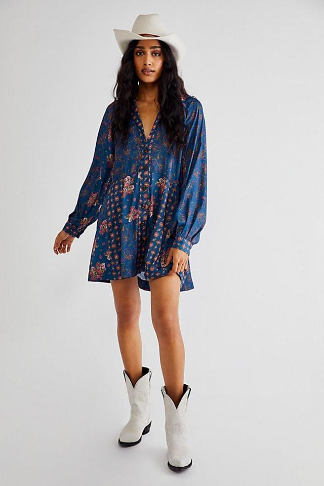<p>You can get this <span>Free People Sylvie Mini Dress</span> ($128) in three different colors. Style it with some western-inspired boots.</p>