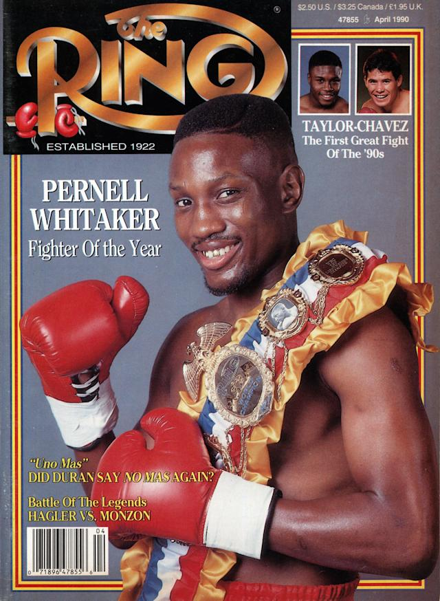 Pernell Whitaker on the cover of Ring Magazine in 1990. (Photo by: The Ring Magazine via Getty Images)