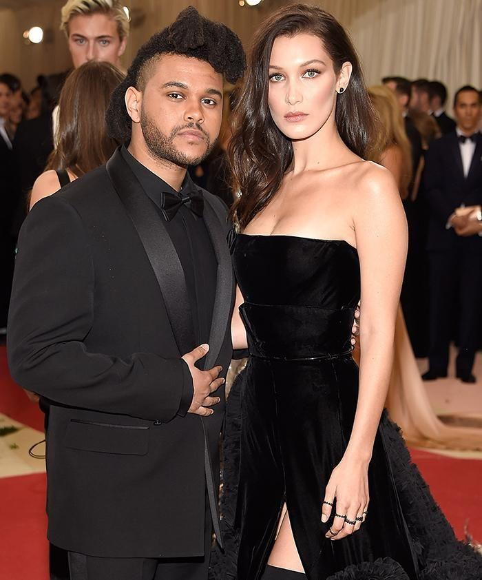 Bella Hadid and The Weeknd earlier this year. Source: Getty