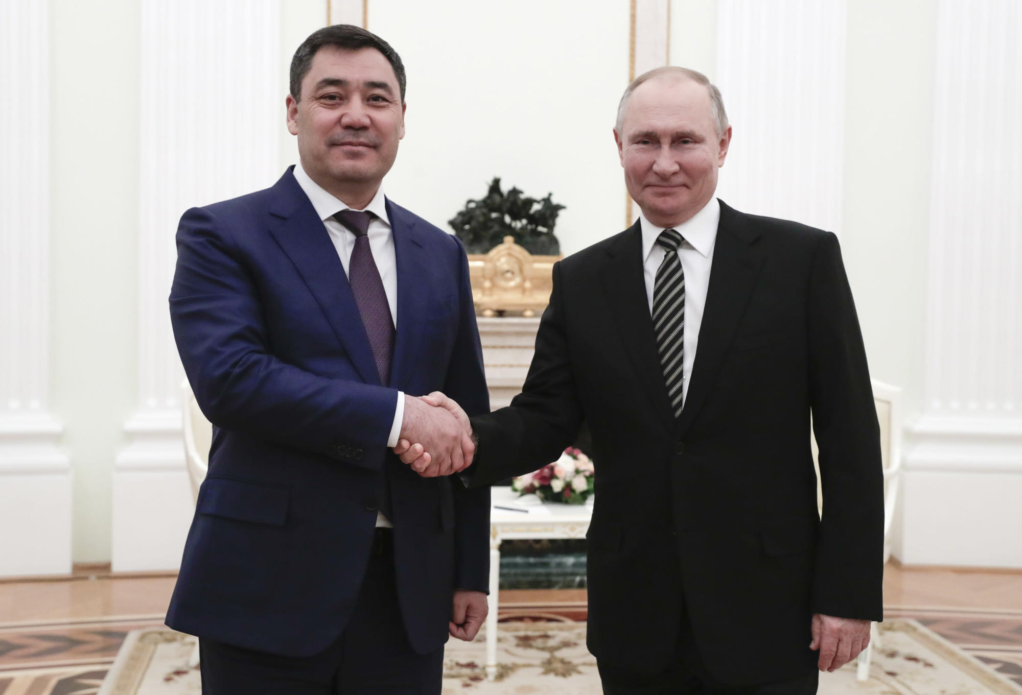 Russia hosts new Kyrgyzstan leader on his 1st foreign trip