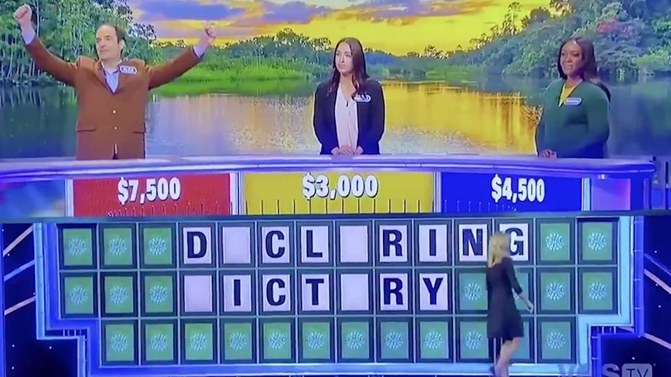 A Wheel of Fortune declaring victory