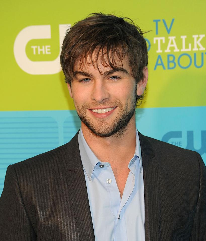 """<a href=""""/chace-crawford/contributor/2157972"""">Chace Crawford</a> (""""<a href=""""/gossip-girl/show/40313"""">Gossip Girl</a>"""") attends the 2010 The CW Upfront at Madison Square Garden on May 20, 2010 in New York City."""