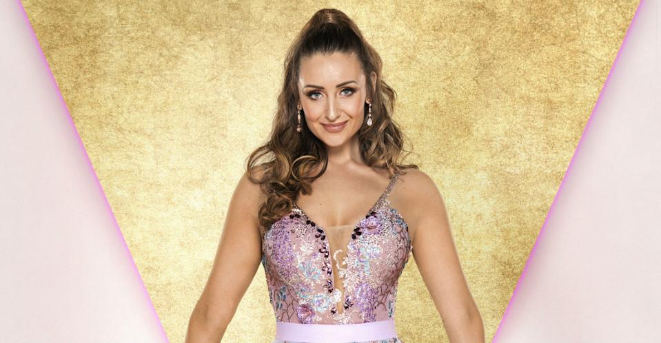Catherine Tyldesley has revealed that she gets given instructions during her live Strictly performances (Photo: BBC)