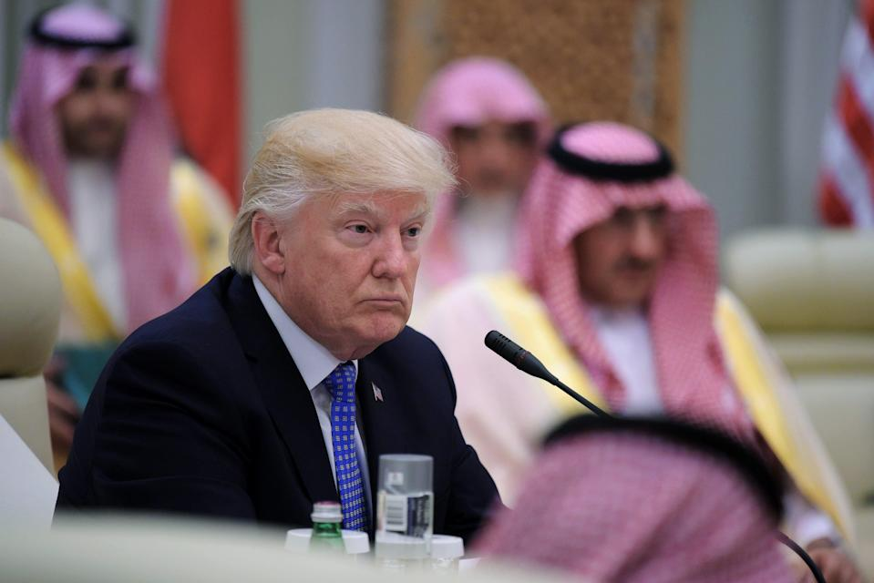 "After repeatedly criticizing Barack Obama's administration for its unwillingness to use the phrase ""radical Islamic terrorism,"" President Donald Trump followed in the footsteps of his predecessor on Sunday by condemning what he called the ""crisis of Islamist extremism"" during his first foreign trip in Saudi Arabia."