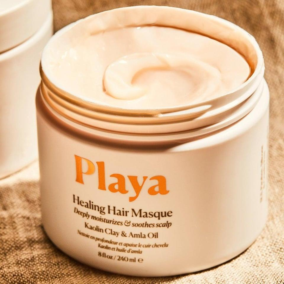 """<p><strong> The Product: </strong> <span>Playa Healing Hair Masque</span> ($38)</p> <p><strong> The Rating: </strong> 4.1 stars </p> <p><strong> Why Customers Love It: </strong> Revive dry and brittle with this mask that customers say """"gives your hair a healthy look."""" Several customers raved about it soothing their dry, irritated scalp stating """"this mask has been the best to heal my scalp without making my hair look like garbage.""""</p>"""