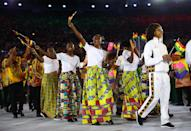 <p>Ghana knows how to mix prints. The white shirts and bright printed skirts would have fit right in with any fashion week. </p><p><i>(Photo: Reuters)</i><br></p>