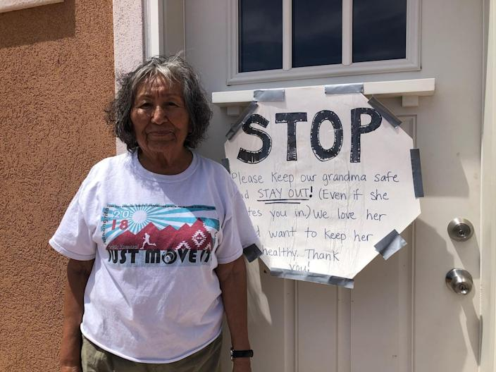 Families are putting signs on their doors telling people not to come in because they need to keep their families safe.