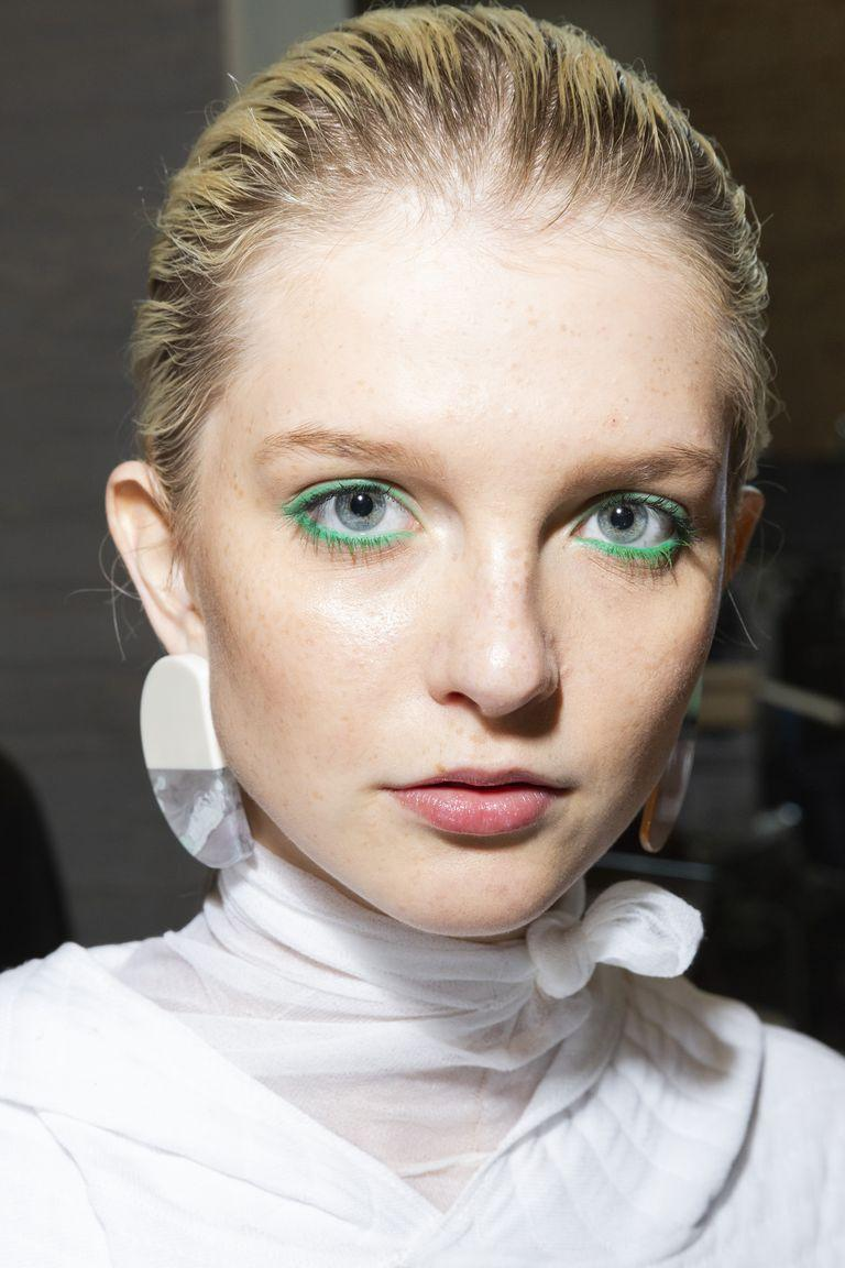 <p>Upgrade your look without adding any extra time to your routine bu tracing an electric green eyeliner along both waterlines instead of your usual black or brown.</p>