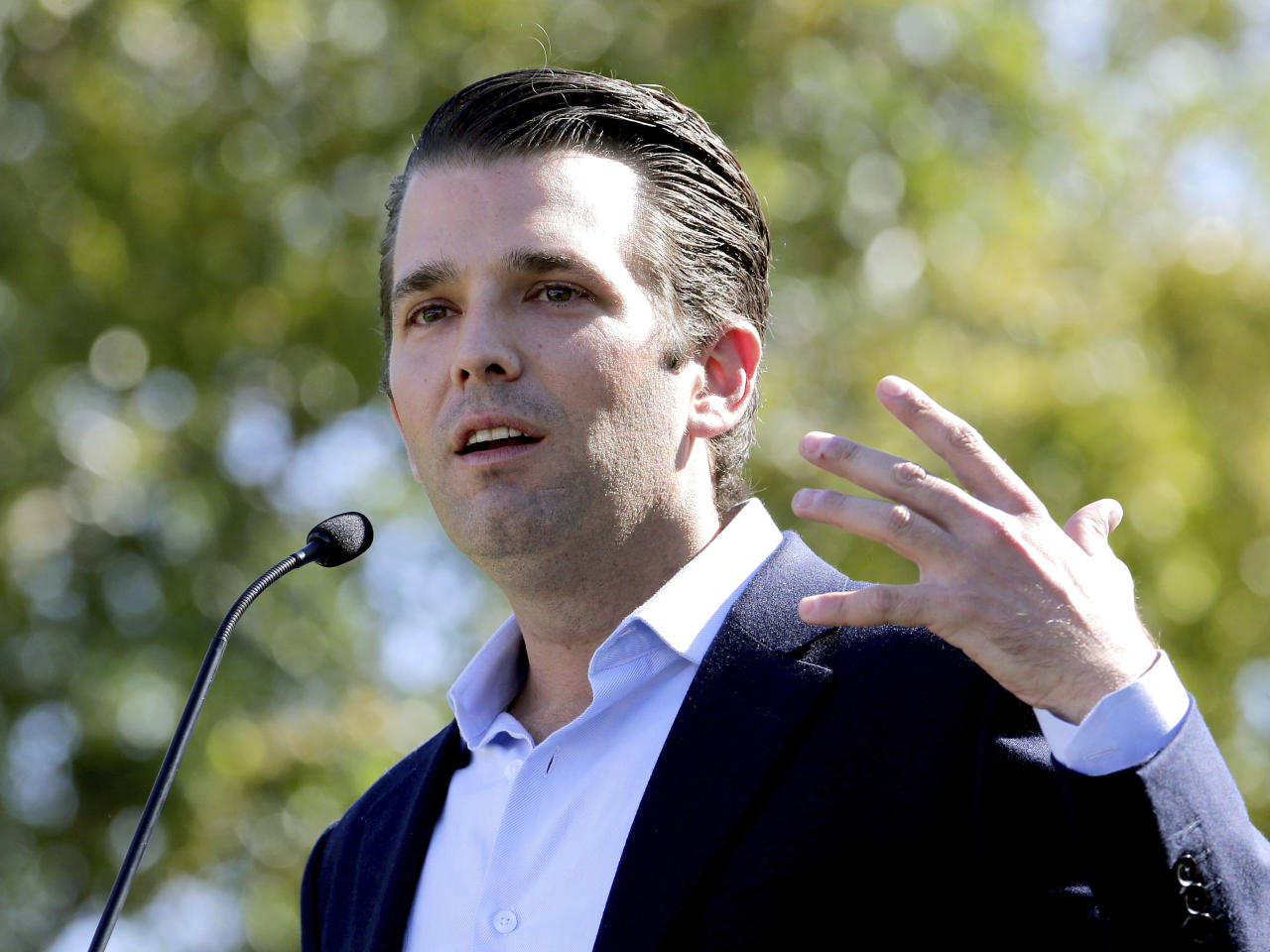 <p>Congressional investigators questioned Donald Trump Jr. on Thursday behind closed doors about his June 2016 meeting with a Russian lawyer who has ties to the Kremlin. According to a New York Times report about the conversation, Trump said he set up the meeting because he was intrigued to get possible damaging information about Hillary Clinton and her fitness to be president. </p>
