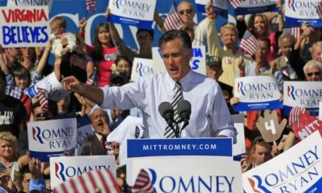 Mitt Romney speaks during a rally in Chesapeake, Va. on Oct. 17: Romney needs to refine his Libya attack against the president during the final debate.